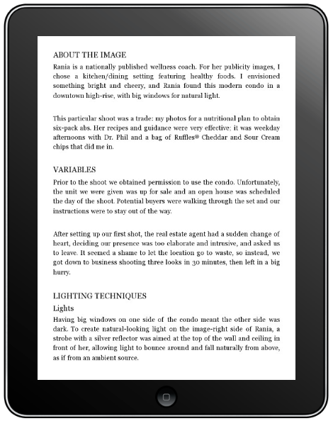iPad Inner Pages